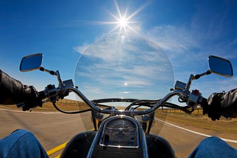 Bikers view